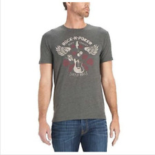 e755d9e39e50 Lucky BRAND Men's Medium Rock Poker Let It Roll Skull Gambling T-shirt Tee  A2418