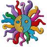 Ecusson patche Soleil patch transfert DIY hippy thermocollant brodé