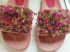 Zara basics Beaded Sandals.Slides.Pink size uk 6 rrp £55