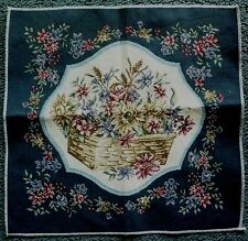 Basket Full of Flowers tapestry for pillow, chair seat or to be framed.Excellent