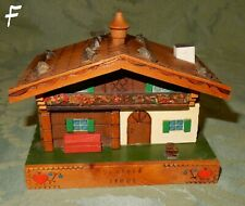 Vintage Austria Seefeld Tyrol House Chalet Wooden Music Box Reuge Movement (F)