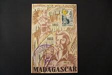RARE  CARTE - CENTENAIRE MÉDAILLE MILITAIRE - MADAGASCAR 1952 - BEL ETAT .!!