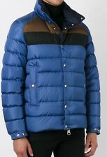 AUTHENTIC MONCLER MENS BREVAL $1230 BLUE JACKET COAT SIZE 3 Large Puffer
