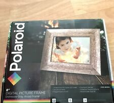 Polaroid 8 inch Digital Picture Frame - Distressed Grey Wood Frame