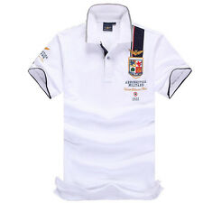 Men's Clothing Shirt Short Sleeve Lapel POLO Summer Solid Casual Classica MAN