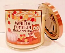BATH & BODY WORKS VANILLA PUMPKIN MARSHMALLOW SCENTED 3 WICK CANDLE 14.5oz NEW!