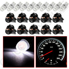 10Pcs Twist Lock Socket White T10 168 Samsung 2323 SMD LED Instrument Dash Light