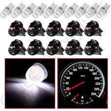 10Pcs T10 White 2323SMD LED Dashboard Gauge Light Bulb PC194 Twist Lock Sockets