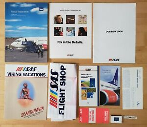 SAS SCANDINAVIAN AIRLINES - MEMORABILIA LOT - 11 ITEMS