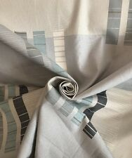 35 Metres Asteroid Modern Montgomery Curtain & Interior Fabric In White & Steel