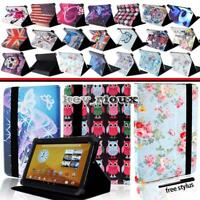 """Leather Stand Folio Cover Case For Various 7"""" 8"""" 10"""" Prestigio Wize Tablet"""