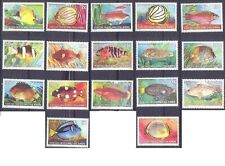 Cocos Islands 1979 FISHES Complete (17) Unhinged Mint SG 34-47
