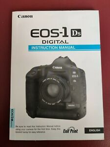 Canon Eos 1ds MK1 Instruction Manual