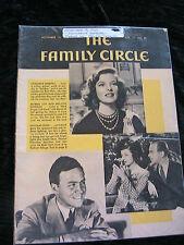 VINTAGE~THE FAMILY CIRCLE Nov 15, 1940~KATHARINE HEPBURN + more *RARE MAGAZINE