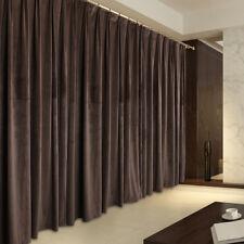 A Pair Vintage Style Velvet Curtains, 2x210cmx230cm Drop, Brown Color AC230A