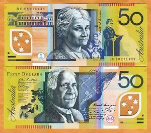 Australia, $50, 2008, Polymer, P-60f, UNC