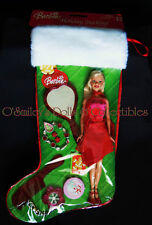 2005 HOLIDAY STOCKING GIFT SET Barbie Red Dress-VANITY SET & JEWELRY G6471_NRFB