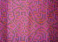 "LIBERTY PRINTS ""FARHAD"" 1.1 metre abstract cotton tana lawn designer fabric PINK"