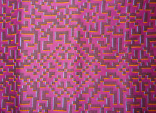 "LIBERTY ART FABRICS ""FARHAD"" PER HALF METRE (50cm) abstract tana lawn PINK"