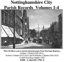 Nottingham City Parish Registers - Complete Phillimore Marriages Records