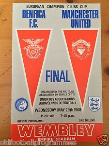 1968 EUROPEAN CUP FINAL PROGRAMME *(BENFICA V MANCHESTER UNITED)* (RE-PRINT)