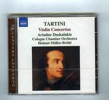 CD (NEW)TARTINI VIOLIN CONCERTOS A.DASKALAKIS H.MULLER BRUHL(NAXOS)