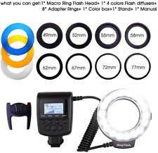Ring Flash, Update Version 18 LEDS Macro Ring Flash Light RF-600D for Canon Niko