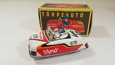 Hungarian Tin Toy Lemezarugyar Litho Wind-Up Friction Car Torpeauto / Box 678