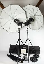 Bowens GEMINI GM200. 2 HEAD Studio Kit Flash + Bowens Stand, ombrelli e Custodia