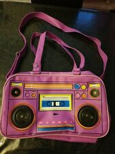 Living Dead Souls Working Boombox Bag With Speakers Purple