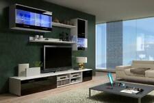 Wall Unit Design Wall Unit Wall Unit High Gloss LED Lighting Shelf Furniture New
