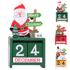 New Wood Christmas Advent Calendars Christmas Decorations for Home Xmas Ornament