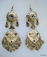 tribal belly dance jewelry gypsy vintage antique tribal old silver earrings