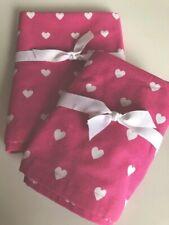 Pottery Barn Kids Pink White Heart Hamper Liner + Medium Basket Liner
