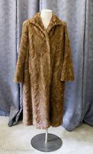 New listing Vintage Mink Sheared Fur Coat Full Length Size M