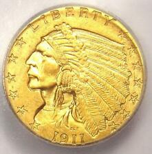 1911-D Indian Gold Quarter Eagle $2.50 Coin (Strong D) - ICG MS62 - $7910 Value!