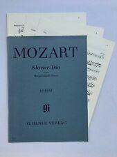 Noten. Mozart. Klavier-Trio. KV 498 (Kegelstatt-Trio).  Urtext.  Mit Stimmen.