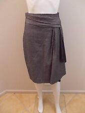 AS NEW- KAREN MILLEN WOOL BLEND,DRAPE SKIRT SIZE EU 36=6/8  (#1055)