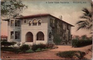 Hand Colored Postcard A Center Street Residence in Phoenix, Arizona~136843