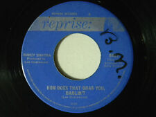Nancy Sinatra 45 How Does That Grab You... / Last of Secret Agents~ VG  Canadian