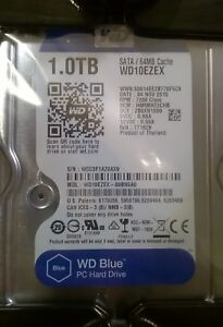 "Western Digital Blue 1TB SATA Internal 7200RPM 3.5"" Desktop HD - WD10EZEX"