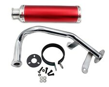 Scooter Performance Exhaust Pipe for GY6 50cc 88*300mm Aluminum Red