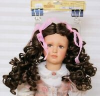 """WIG-DOLL-SIZE 9"""" Style 286 Brown  modacrylic style with long curls"""