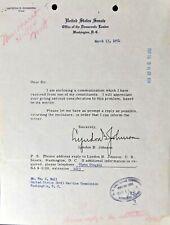 Lyndon B. Johnson - Typed Letter Signed, 1954