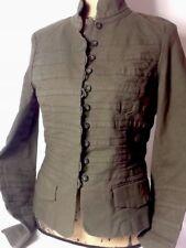 $395 DVF Diane Von Furstenberg Army Green Jacket Blazer - Size 10