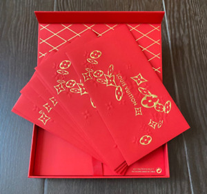 2021 LOUIS VUITTON Red Packets Envelopes New Year Limited Collectible