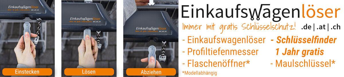 1 einkaufswagenl/öser CODE24 F6 Metall-mit 12 Monaten Schl/üsselschutz