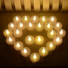 Warm White Electric Smokeless 24 LED Tealights Fake Candles Party Wedding Votive