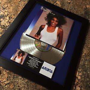 Whitney Houston Whitney Million Record Sales Music Award Album Disc LP Vinyl