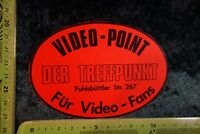 Alter Aufkleber Musik HiFi Foto Video Film VIDEO-POINT TREFFPUNKT Fuhlsbüttler